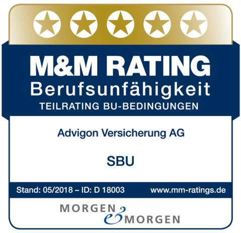 Advigon Siegel M&M Rating BU-Versicherung